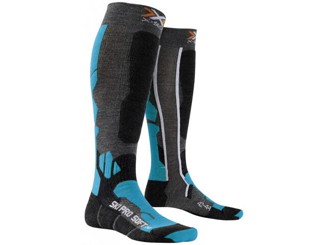 X-Bionic Ski Pro Soft Skarpetki, anthracite/azure